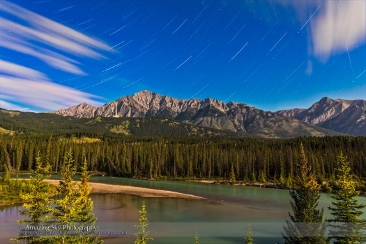 Andromeda Rising over Bow River