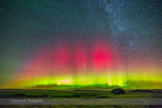 Aurora over Grasslands National Park #1