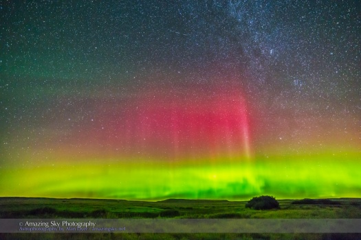 Aurora over Grasslands National Park #2