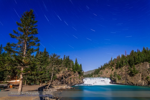 Big Dipper Star Trails over Bow Falls