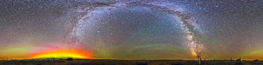 Grasslands Milky Way Panorama at 76 Corral