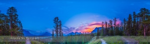 Howse Pass Viewpoint Sunset Panorama (Full)