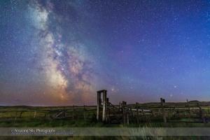 Mars, Saturn & Milky Way over Ranch Corral