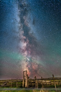 Milky Way over the 76 Ranch Corral