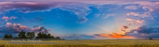 Prairie Sunset Panorama