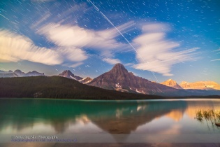 Space Station over Mt. Cephren, Banff (Composite)