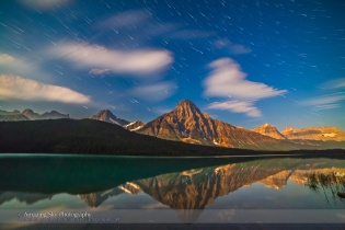 Star Trails over Waterfowl Lke v1
