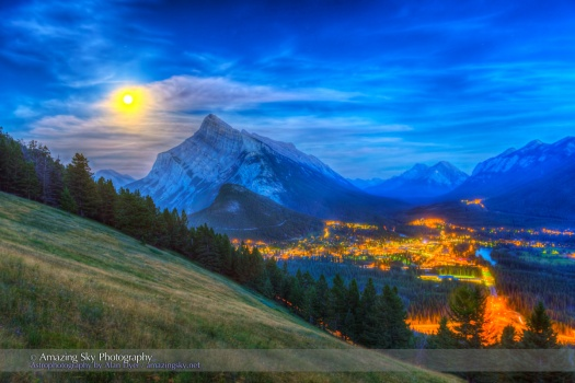 Super Moonrise over Banff