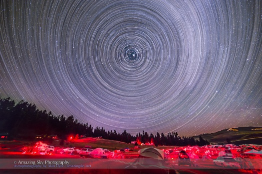Table Mountain Star Trails-Circumpolar Elastic Effect
