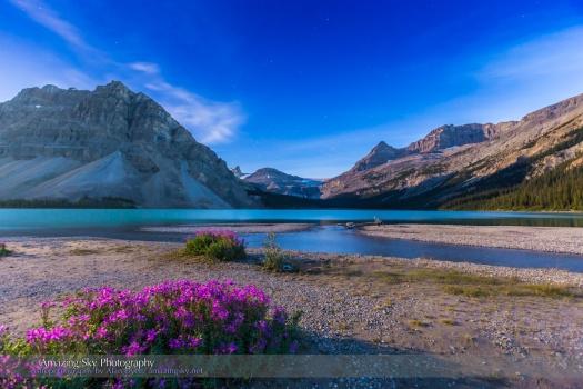 Twilight at Bow Lake