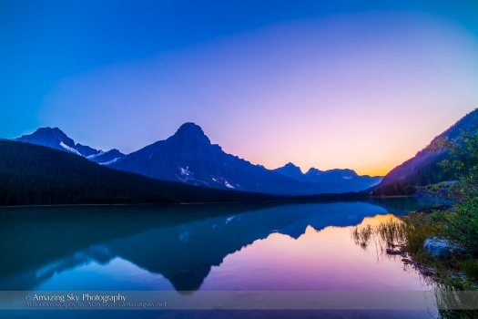 Twilight at Waterfowl Lakes