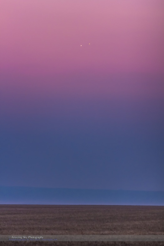 Venus & Jupiter Conjunction Closeup