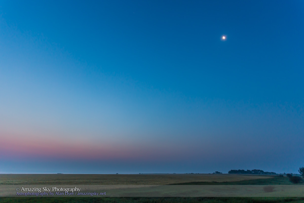 Venus & Jupiter Conjunction, with Moon (August 18, 2014)