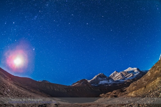 Andromeda over Mt. Andromeda #2