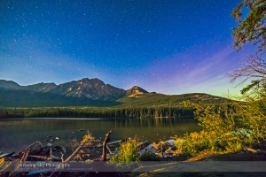 Big Dipper over Pyramid Mountain from Pyramid Island