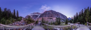 Mt. Edith Cavell Trail at Twilight Panorama
