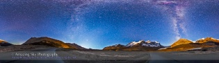Icefields at Moonrise Panorama