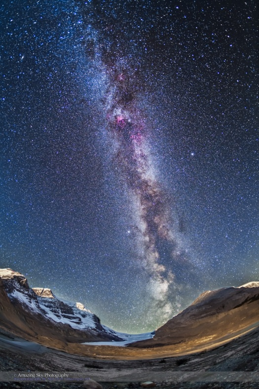 Milky Way Over the Icefields