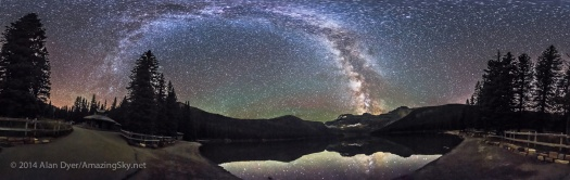 Milky Way Panorama at Cameron Lake (Equirectangular)