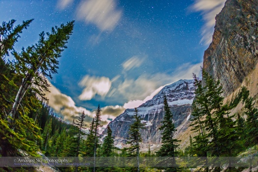 Mt Edith Cavell by Starlight