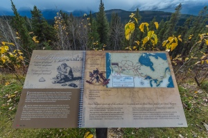 David Thompson Sign at Athabasca Pass Overlook