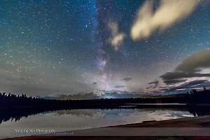 Milky Way over Lake Annette