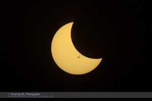 Partial Solar Eclipse & Sunspot #1 (Oct 23, 2014)