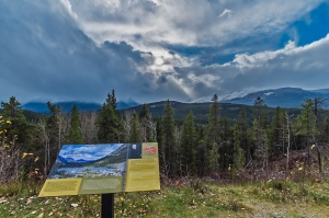 Sunbeams over Athabasca Pass