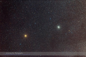 Mars and M22 Cluster