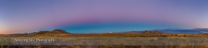 Moonrise at City of Rocks Panorama