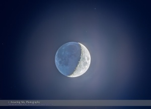 Crescent Moon with Earthshine (Dec 26, 2014)