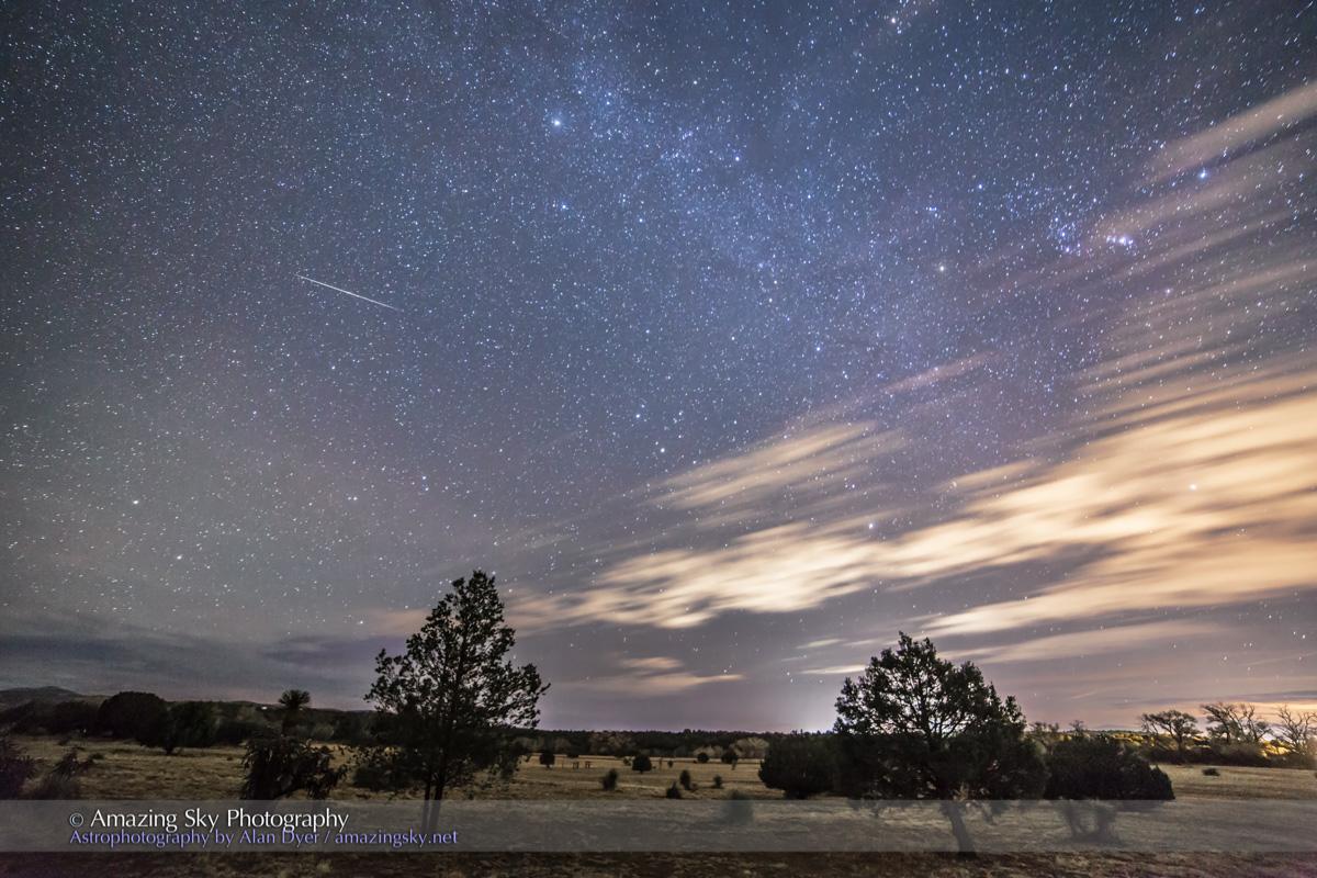 Lone Geminid Meteor (Dec 12, 2014)