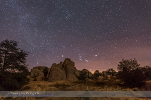 Orion Rising at City of Rocks (Xmas Eve 2014)