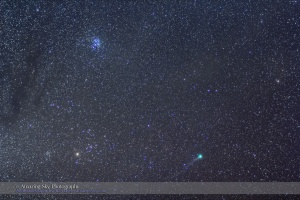 Comet Lovejoy in Taurus (Jan 10, 2015)