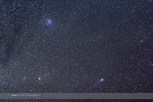 Comet Lovejoy in Taurus (Jan 10, 2015)