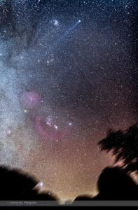 Comet Lovejoy Nightscape (Jan 16, 2015)