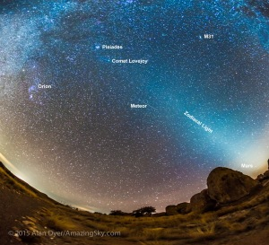 Comet Lovejoy & Zodiacal Light (Jan 16, 2015)