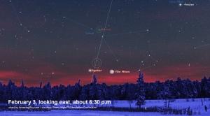 Feb 3 Moon & Jupiter