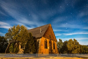 The Big Dipper over Hearst Church
