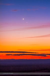 Mercury & Venus Conjunction Closeup (Jan. 10, 2015)