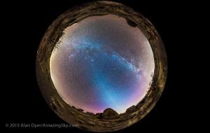 Zodiacal Light Panorama (Circular)