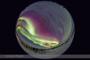 All-Sky Auroral Curtains #2 (Feb 18, 2015)