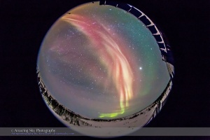 Red Auroral Curtains