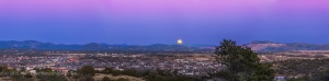 Full Snow Moon over Silver City Panorama #1