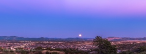 Full Snow Moon over Silver City Panorama #2
