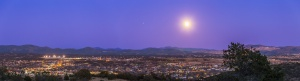Full Snow Moon over Silver City Panorama #3