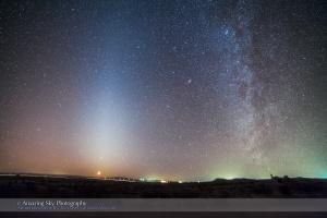 Zodiacal Light & Milky Way