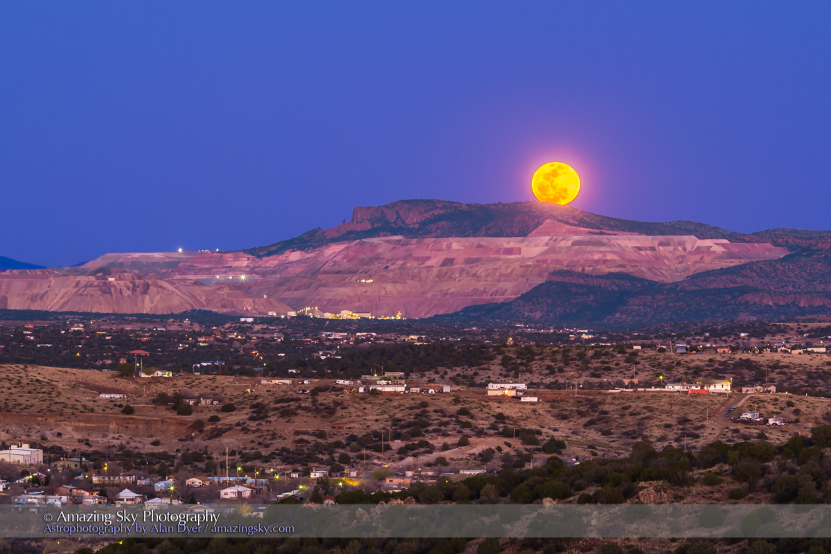 Elegant Copper Moon Over Copper Mine