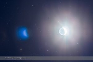 Waxing Moon Amid the Hyades (March 24, 2015)