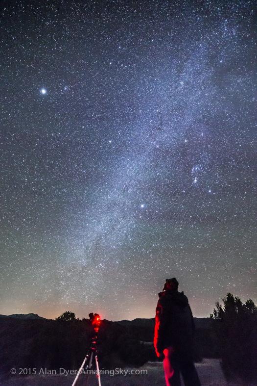 Standing Under the Milky Way